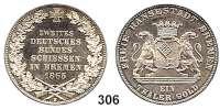 Deutsche Münzen und Medaillen,Bremen, Stadt Freie Hansestadt seit 1813 Taler 1865 B, Hannover.  Bundesschiessen.  Kahnt 163.  Thun 126.  AKS 16.  Jg. 27.  Dav. 628.