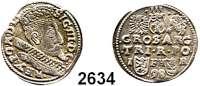 AUSLÄNDISCHE MÜNZEN,Polen Sigismund III. 1587 - 1632 3 Gröscher 1598, Posen.  2,58 g.  Iger P 98.1.  Gum. 1077.