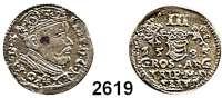 AUSLÄNDISCHE MÜNZEN,Polen Stephan Bathory 1576 - 1586 3 Gröscher 1585 für Litauen.  2,36 g.  Iger V 85.2 b.