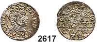 AUSLÄNDISCHE MÜNZEN,Polen Stephan Bathory 1576 - 1586 3 Gröscher 1584, Riga.  2,52 g.  Iger R 84.1.