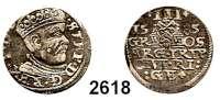 AUSLÄNDISCHE MÜNZEN,Polen Stephan Bathory 1576 - 1586 3 Gröscher 1585, Riga.  2,43 g.  Iger R 85.1.