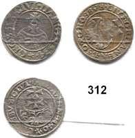 Deutsche Münzen und Medaillen,Danzig, Stadt Sigismund I. 1506 - 1548 Groschen 1534 und 1540(2).  Dutkowski/Suchanek 57 und 64(2).  LOT 3 Stück.