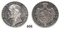 Deutsche Münzen und Medaillen,Sachsen - Coburg und Gotha Ernst II. 1844 - 1893 Taler 1862 F, Dresden.  Kahnt 496.  Thun 369.  AKS 103.  Jg. 296.