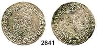 AUSLÄNDISCHE MÜNZEN,Polen Johann Kasimir 1648 - 1668 Ort 1668 TLB.  Gum. 1764.