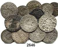 AUSLÄNDISCHE MÜNZEN,Polen LOTS   LOTS   LOTS Schilling 1621 Riga; Prägungen für Litauen,  Schilling (Kupfer) 1660, 1661; Schilling 1624, 162?; Halbgroschen o.J. (Alexander), 1512, 154?, 1558, 1559, 1560, 1561; Groschen 1626(gelocht).  LOT 13 Stück.