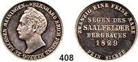 Deutsche Münzen und Medaillen,Sachsen - Meiningen Bernhard II. Erich Freund 1803 - 1866 1/2 Ausbeutekonventionstaler 1829, Berlin.  Kahnt 504.  AKS 185.  Jg. 419.