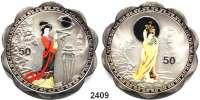 AUSLÄNDISCHE MÜNZEN,China Volksrepublik seit 1949 LOT von 4 Silbermedaillen o.J. (999) mit Wertbezeichnung