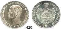 Deutsche Münzen und Medaillen,Sachsen - Weimar - Eisenach Karl Alexander 1853 - 1901 Taler 1870 A, Berlin.  Kahnt 516.  Thun 386.  AKS 33.  Jg. 535.  Dav. 847.