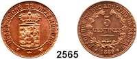 AUSLÄNDISCHE MÜNZEN,Luxemburg Wilhelm III. 1849 - 1890 Probe zu 5 Centimes (Kupfer) 1889.  KM E 13.