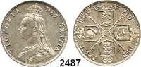 AUSLÄNDISCHE MÜNZEN,Großbritannien Viktoria 1837 - 1901 Florin 1887.  Spink 3925.  Kahnt/Schön 128.  KM 762.