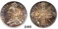AUSLÄNDISCHE MÜNZEN,Großbritannien Viktoria 1837 - 1901 Doppel Florin 1887.  Spink 3923.  Kahnt/Schön 130.  KM 763.