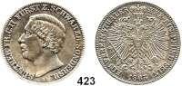 Deutsche Münzen und Medaillen,Schwarzburg - Sondershausen Günther Friedrich Karl II. 1835 - 1880 Vereinstaler 1865 A, Berlin.  Kahnt 541.  Thun 400.  AKS 38.  Jg. 75.  Dav. 921.