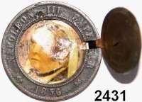 AUSLÄNDISCHE MÜNZEN,Frankreich Napoleon III. 1852 - 1870 10 Centimes 1856 B.  Kopfbildnis Napoleon III. aufklappbar, darunter mehrfarbiges Frauenporträt.  Interessante handwerkliche Arbeit.