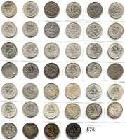 R E I C H S M Ü N Z E N,Kleinmünzen  1/2 Mark 1905 bis 1918.  LOT 40 Stück.