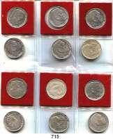 R E I C H S M Ü N Z E N,Drittes Reich  5 Reichsmark 1935 und 1936 A bis J.  SATZ 12 Stück.
