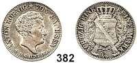 Deutsche Münzen und Medaillen,Sachsen Anton 1827 - 1836 1/6 Sterbe-Taler 1836.  AKS 87.  Jg. 66.