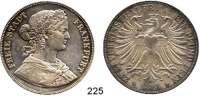 Deutsche Münzen und Medaillen,Frankfurt am Main Freie Stadt 1814 - 1866 Vereinsdoppeltaler 1861.  Kahnt 183.  Thun 145.  AKS 4.  Jg. 43.  Dav. 651.