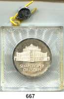 Deutsche Demokratische Republik,  10 Mark 1985.  Semperoper Dresden.