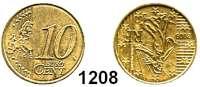 AUSLÄNDISCHE MÜNZEN,E U R O  -  P R Ä G U N G E N Frankreich 10 Cent 2009.  Stempeldrehung 180 Grad.  Sogen. französische Prägung.