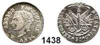 AUSLÄNDISCHE MÜNZEN,Haiti Alexandre Pétion 1807 - 1818 25 Centimes AN 14 (1817).  Kahnt/Schön 9.  KM 15.2.