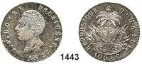 AUSLÄNDISCHE MÜNZEN,Haiti Jean Pierre Boyer 1818 - 1843 100 Centimes AN 27 (1830).  Kahnt/Schön 16.  KM A 23.