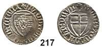Deutsche Münzen und Medaillen,Deutscher Orden Konrad V. von Jungingen 1393 - 1407 Schilling o.J.  1,53 g.  Neumann 7 b.