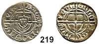 Deutsche Münzen und Medaillen,Deutscher Orden Paul von Rußdorf 1422 - 1441 Schilling o.J. nach 1435.  1,50 g.  Neumann 20 d.