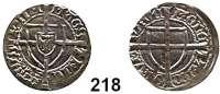 Deutsche Münzen und Medaillen,Deutscher Orden Michael Küchmeister von Sternberg 1414 - 1422 Schilling o.J.  1,67 g.  Neumann 18.