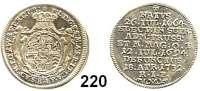Deutsche Münzen und Medaillen,Deutscher Orden in Mergentheim Franz Ludwig von Pfalz-Neuburg 1694 - 1732 Groschen 1732, Nürnberg.  2,10 g.  Auf seinen Tod.  Dudik 290.  Neumann 162.  Schön 6.