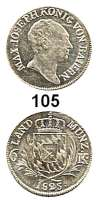 Deutsche Münzen und Medaillen,Bayern Maximilian I. Josef (1799) 1806 - 1825 6 Kreuzer 1825.  AKS 52.  Jg. 10.
