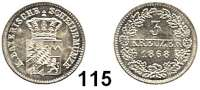 Deutsche Münzen und Medaillen,Bayern Ludwig II. 1864 - 1886 3 Kreuzer 1868.  AKS 182.  Jg. 97.