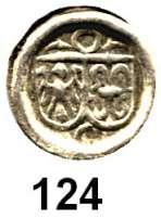 Deutsche Münzen und Medaillen,Brandenburg - Preußen Joachim I. 1499 - 1535 Hohlpfennig o.J.  0,25 g.  Bahrfeldt 81 c.