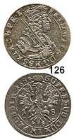 Deutsche Münzen und Medaillen,Brandenburg - Preußen Friedrich Wilhelm der Große Kurfürst 1640 - 1688 18 Gröscher 1684 H-S, Königsberg.  5,96 g.  v.S. 1679 var.