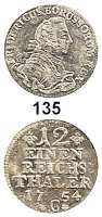 Deutsche Münzen und Medaillen,Preußen, Königreich Friedrich II. der Große 1740 - 1786 1/12 Taler 1754 C, Kleve. 3,61 g.  Kluge 104.4/353.  v.S. 338.  Olding 52.