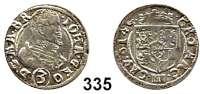 Deutsche Münzen und Medaillen,Schlesien - Jägerndorf Johann  Georg von Brandenburg 1606 - 1621 3 Kreuzer 1614.  1,64 g.  F. u. S. 3362.