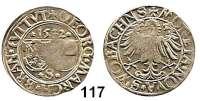 Deutsche Münzen und Medaillen,Brandenburg in Franken Georg der Fromme allein 1515 - 1543 Batzen 1532, Schwabach.  3,71 g.  Slg. Wilm. 461.  Schulten 211.