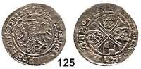 Deutsche Münzen und Medaillen,Brandenburg - Preußen Joachim I. 1499 - 1535 Groschen 1528, Frankfurt.  2,09 g.  Bahrfeldt 166.