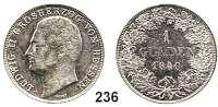 Deutsche Münzen und Medaillen,Hessen - Darmstadt Ludwig II. 1830 - 1848 1 Gulden 1840.  AKS 105.  Jg. 39.