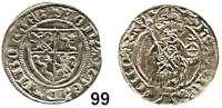Deutsche Münzen und Medaillen,Bamberg, Bistum Anton von Rotenhan 1431 - 1459 Schilling o.J. (nach dem Münzverein von 1443).  Vierfeldiger Wappenschild. / Von vorn stehender Kaiser Heinrich II. mit Zepter und Reichsapfel.