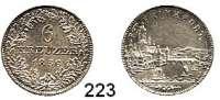 Deutsche Münzen und Medaillen,Frankfurt am Main Freie Stadt 1814 - 1866 6 Kreuzer 1856.  AKS 20.  Jg. 30.