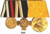 Orden, Ehrenzeichen, Militaria, Zeitgeschichte,Deutschland Deutsches Reich Große Ordensschnalle mit 3 Auszeichnungen.  Kriegsdenkmünze 1870/71; Kreuz 1866 Königgrätz und Centenarmedaille.