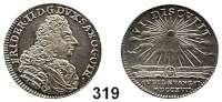 Deutsche Münzen und Medaillen,Sachsen - Gotha - Altenburg Friedrich II. 1691 - 1732 1/8 Taler 1717 I-T.  3,61 g.  200 Jahrfeier der Reformation.  Slg. Mb. 3176.  Slg. Whiting 274.  Slg. Opitz 2628.
