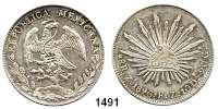 AUSLÄNDISCHE MÜNZEN,Mexiko Republik seit 1867 8 Reales 1896 Zs FR.  Mit chinesischem Gegenstempel.  Kahnt/Schön 100.  KM 377.13.