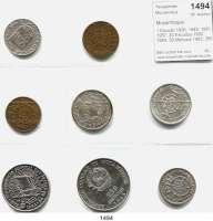 AUSLÄNDISCHE MÜNZEN,Moçambique  1 Escudo 1936, 1945, 1951, 1957; 20 Escudos 1952, 1955; 50 Meticais 1983; 250 Meticais 1985.  LOT 8 Stück.