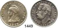 AUSLÄNDISCHE MÜNZEN,Indien Portugiesisch Indien 1 Rupia 1881 und 1912(aus 11).  Kahnt/Schön 12 und 6.  KM 312 und 18.  LOT 2 Stück.