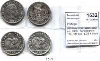AUSLÄNDISCHE MÜNZEN,Portugal Karl I. 1889 - 1908 500 Reis 1891, 1893, 1896 und 1899.  Kahnt/Schön 114.  KM 535.  LOT 4 Stück.