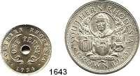 AUSLÄNDISCHE MÜNZEN,Südrhodesien L O T S    L O T S    L O T S Penny 1934 und Crown 1953.  Schön 2 und 31.  KM 7 und 27.  LOT 2 Stück.