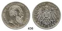 R E I C H S M Ü N Z E N,Hessen, Großherzogtum Ludwig IV. 1877 - 1892 5 Mark 1891.