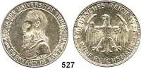 R E I C H S M Ü N Z E N,Weimarer Republik  5 Reichsmark 1927 F.  Tübingen.