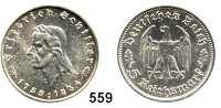 R E I C H S M Ü N Z E N,Drittes Reich  5 Reichsmark 1934 F.  Schiller.